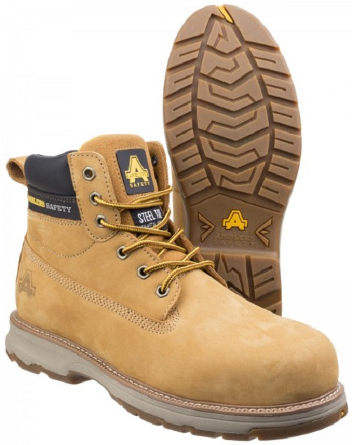Ambler's Wentwood Steel Toe Safety Boot Honey